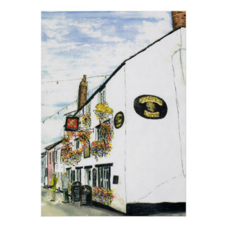 Golden Lion Padstow Print