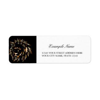 Golden lion return address label
