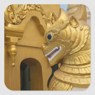 Golden Lion Statue At Temple Square Sticker