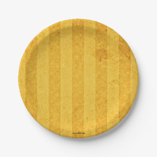 Golden lists and aged 7 inch paper plate