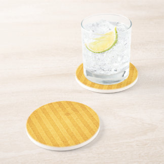 Golden lists and aged beverage coaster