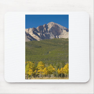 Golden Longs Peak View Mouse Pad
