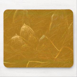 GOLDEN LOTUS Artistic Gold Foil Art Mouse Pad