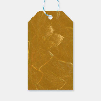GOLDEN LOTUS Artistic Gold Foil Art Pack Of Gift Tags