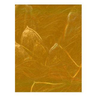 GOLDEN LOTUS Artistic Gold Foil Art Postcard
