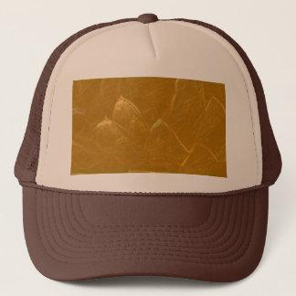 GOLDEN LOTUS Artistic Gold Foil Art Trucker Hat