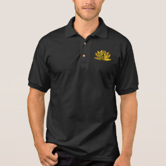 Golden Lotus Flower Yoga Meditation Cool Polo Shirt
