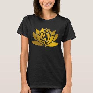 Golden Lotus Flower Yoga Meditation Cool T-Shirt