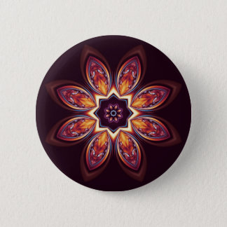 Golden Lotus Fractal Button