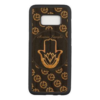 Golden Lotus Hamsa Hand Carved Samsung Galaxy S8 Case
