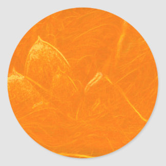 Golden Lotus Heart :  Embossed Gold Leaf Classic Round Sticker