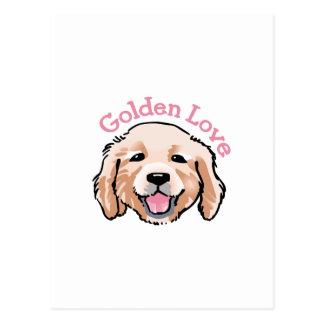 Golden Love Postcard