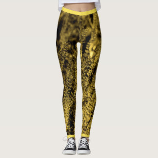 Golden Magic Grass Leggings
