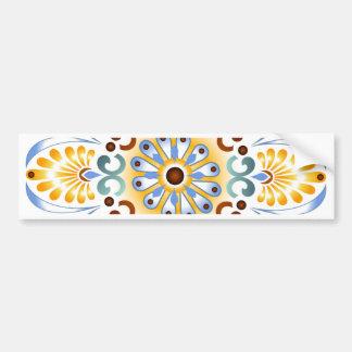 Golden Mandala Bumper sticker