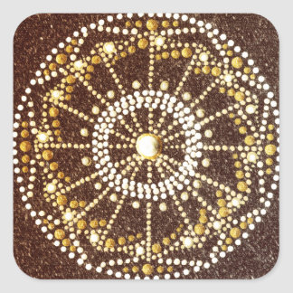 Golden Mandala, Gold Chakra sticker