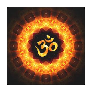 Golden Mandala with OM Canvas Print