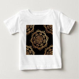 Golden Mandalas on Black Baby T-Shirt