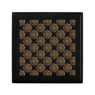 Golden Mandalas on Black Gift Box