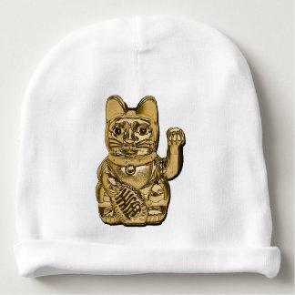 Golden Maneki Neko Baby Beanie