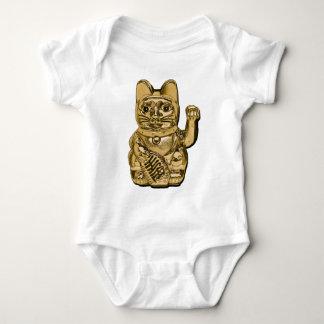 Golden Maneki Neko Baby Bodysuit