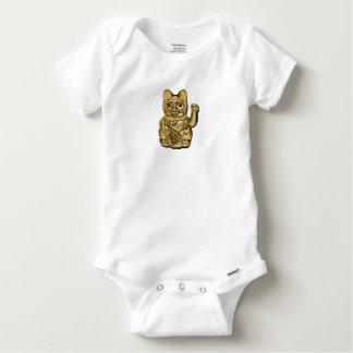 Golden Maneki Neko Baby Onesie
