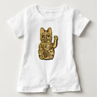 Golden Maneki Neko Baby Romper