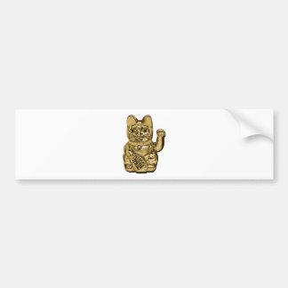 Golden Maneki Neko Bumper Sticker
