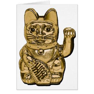 Golden Maneki Neko Card