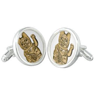 Golden Maneki Neko Cufflinks