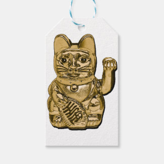 Golden Maneki Neko Gift Tags