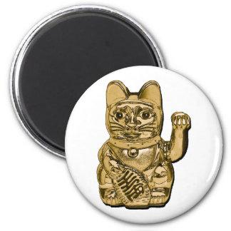 Golden Maneki Neko Magnet