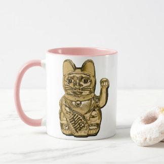 Golden Maneki Neko Mug