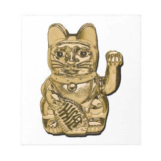 Golden Maneki Neko Notepad