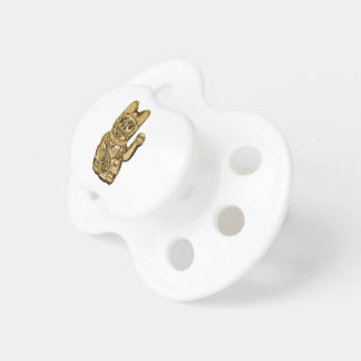Golden Maneki Neko Pacifier