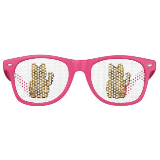 Golden Maneki Neko Retro Sunglasses
