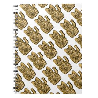Golden Maneki Neko Spiral Notebook