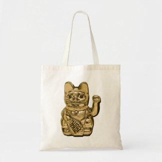 Golden Maneki Neko Tote Bag