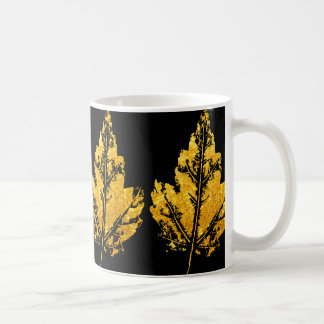 Golden Maple Leaf Mug