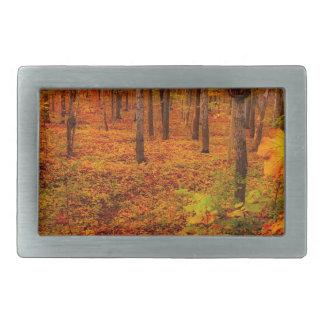 Golden Maple Trees in Fall Rectangular Belt Buckle