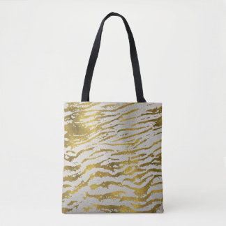Golden Marble Texture Tote Bag