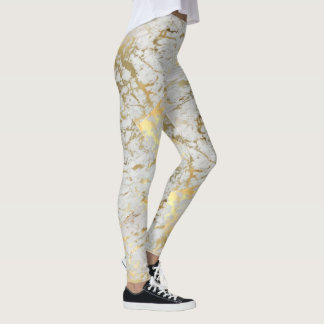 Golden Marble tiles Leggings