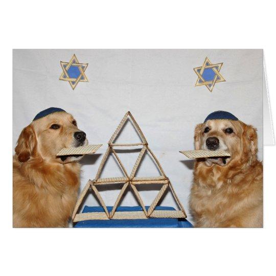 Golden Matzo Fun Passover Card