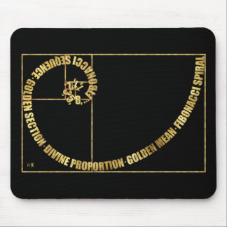 Golden Mean, Fibonacci Spiral Mouse Pad