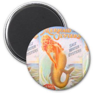 golden mermaid magnet