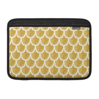 Golden Mermaid Pattern Art MacBook Sleeve