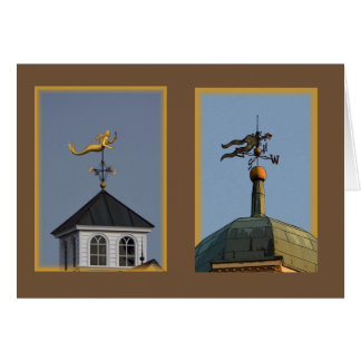 Golden Mermaid Weathervane notecard