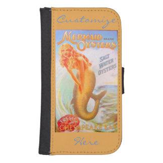 golden mermaids customized samsung s4 wallet case