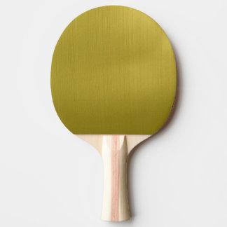 Golden Metallic Ping Pong Paddle