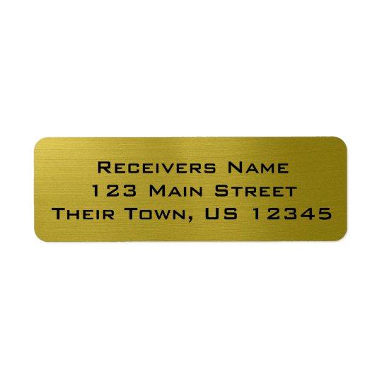 Golden Metallic Return Address Label