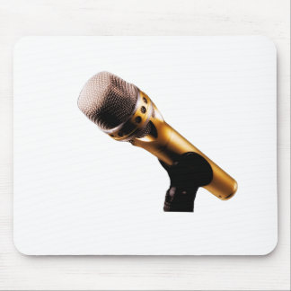 Golden Microphone Mouse Pad